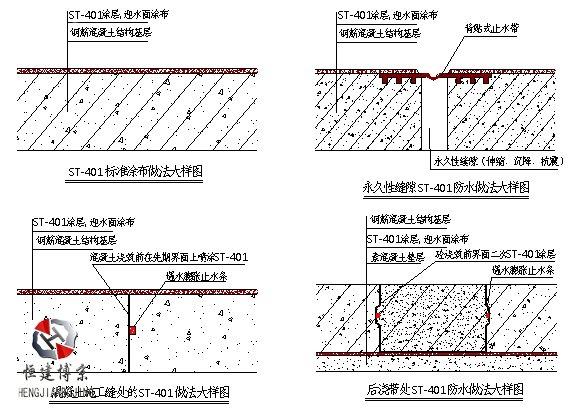 水泥基渗透结晶防水涂料施工图集
